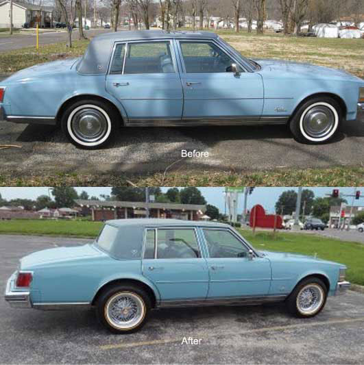Cadillac Fleetwood Brougham 50 Wire Wheels