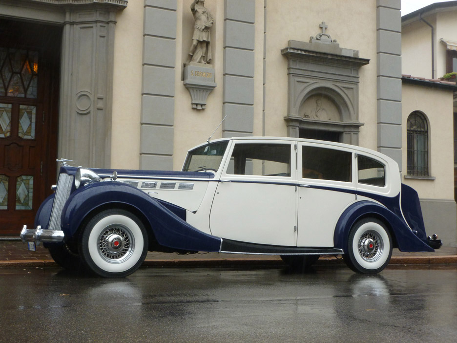 56 spoke chrome rims for Packard.