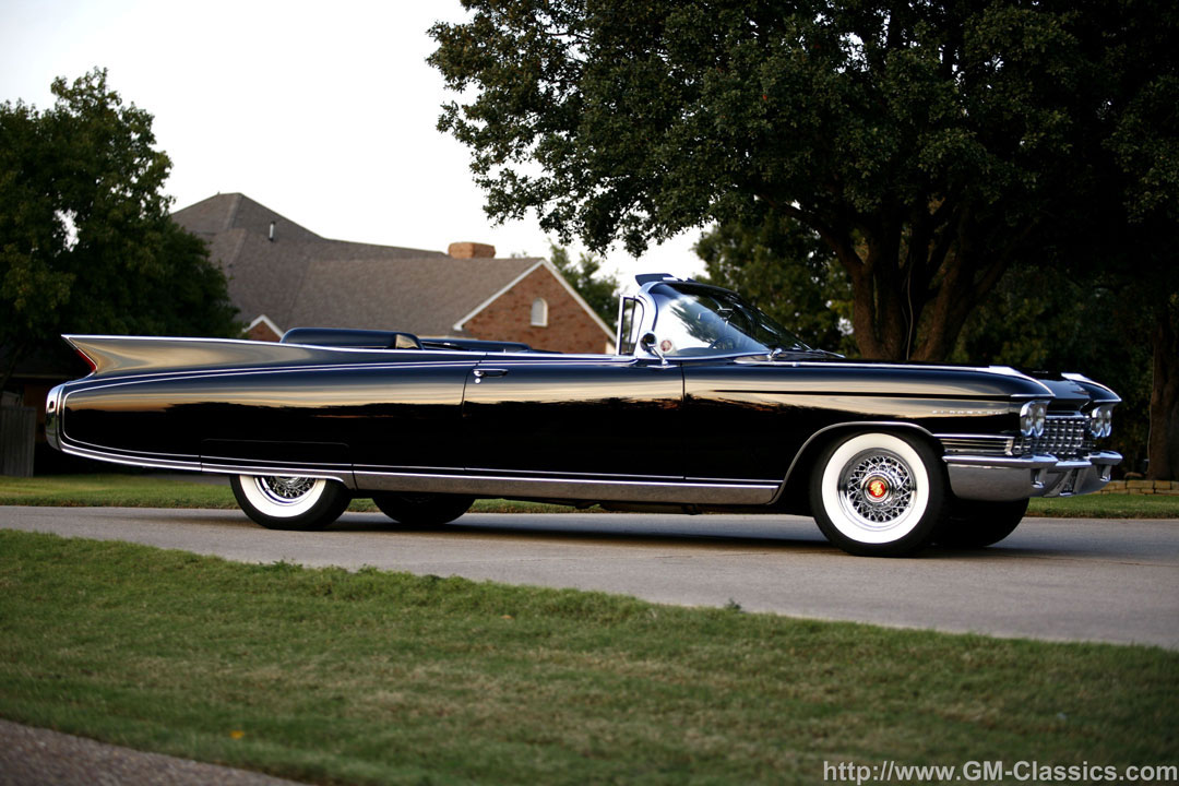 1960 Cadillac Eldorado convertible with chrome wire wheels.