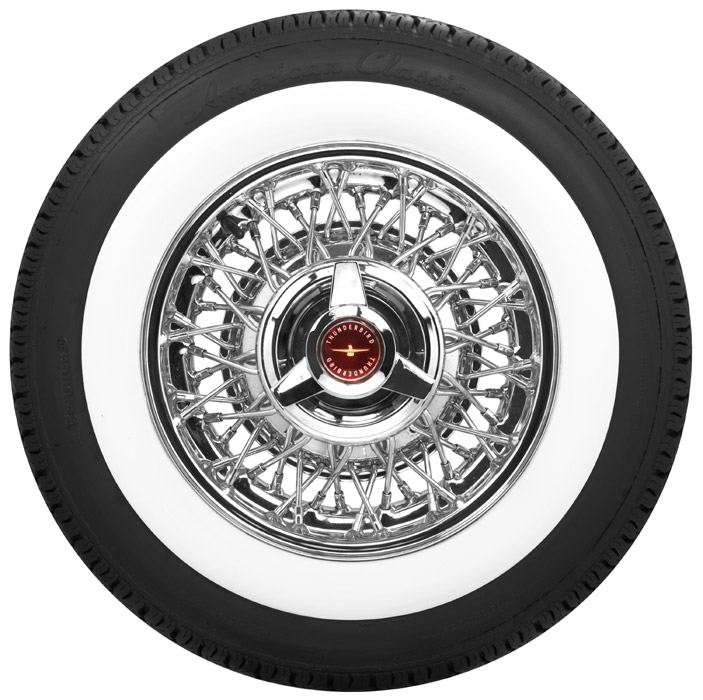 White wall tires thunderbird t bird wide white walls for American classic wheels for sale