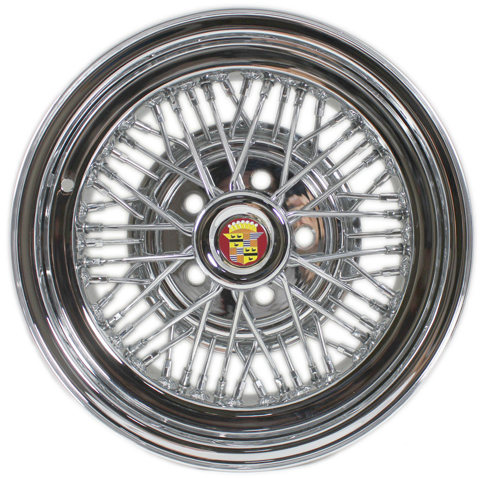 Cadillac shown with Brougham 50 wire wheel.
