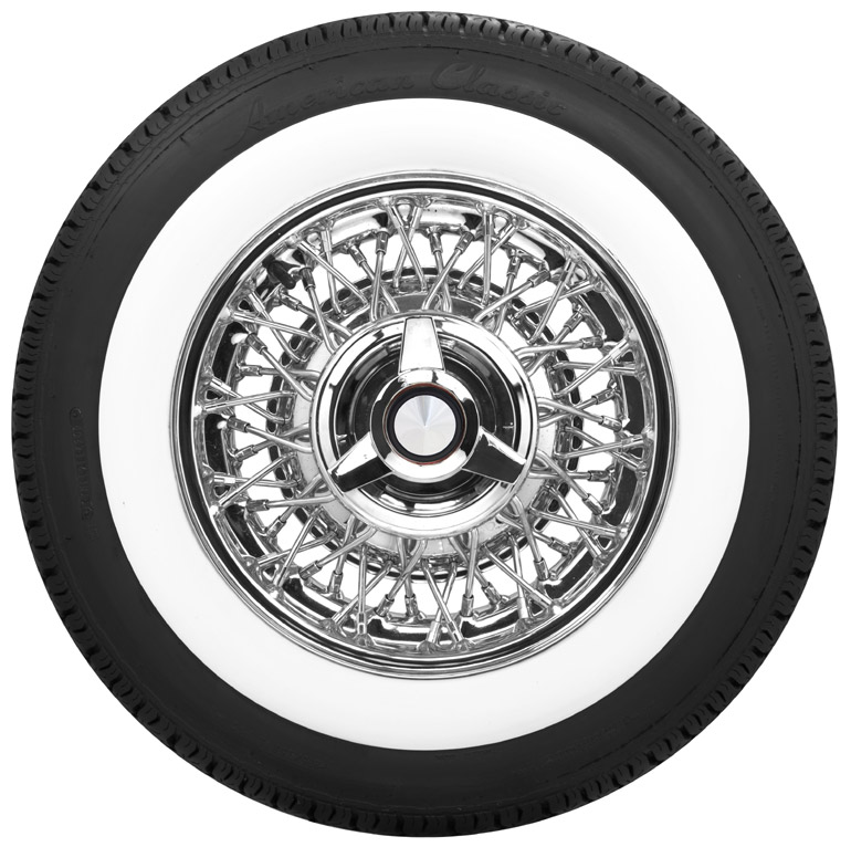 Ford Wire Wheel and Whitewall Tires