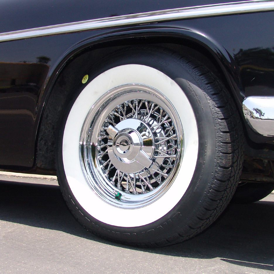 Chrysler wire wheels and whitewall tires for American classic wheels for sale