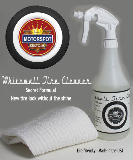 Whitewall tire cleaner.