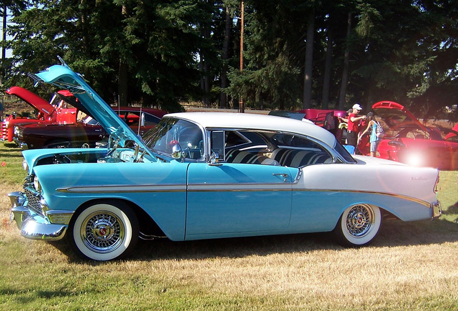 Convertible 1956 chevy bel air convertible : GM Customer's Car Show